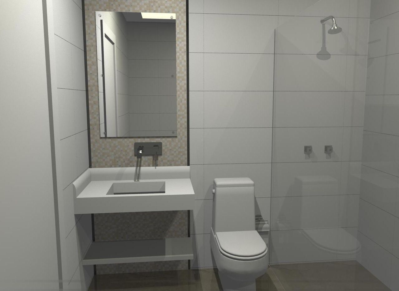 Banheiro quadrado simples