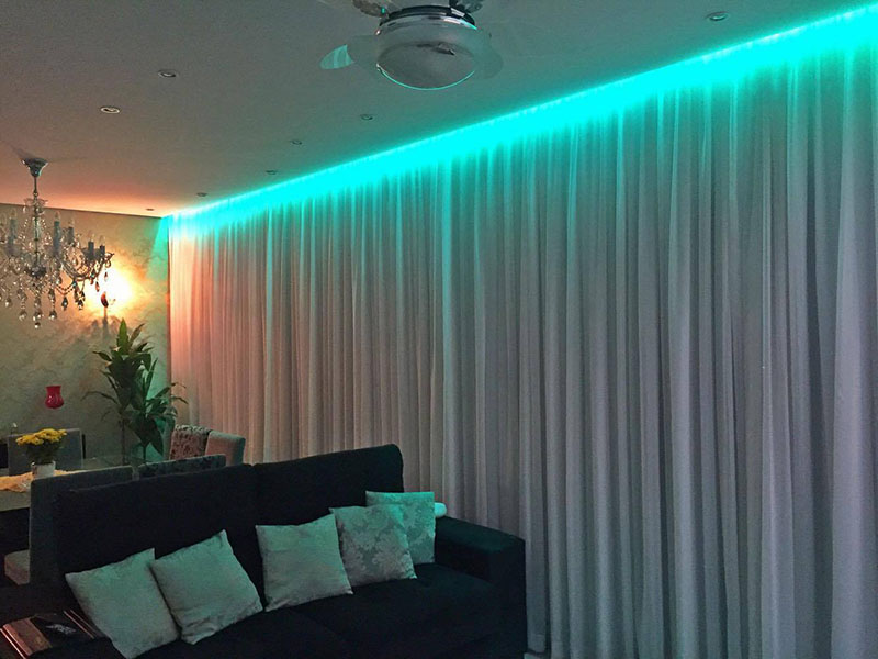 Sanca com led coloridoo