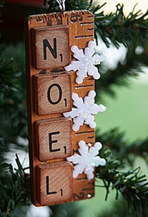 Artesanato em madeira de natal escrito