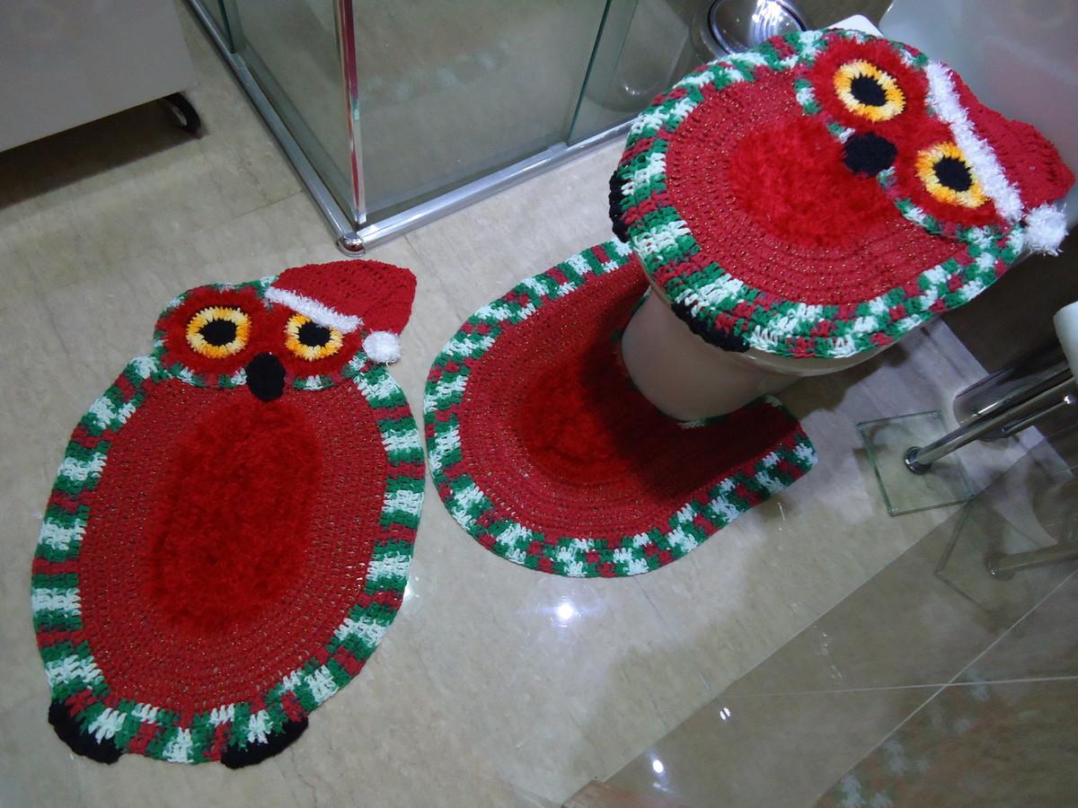 Coruja de crochêde natal