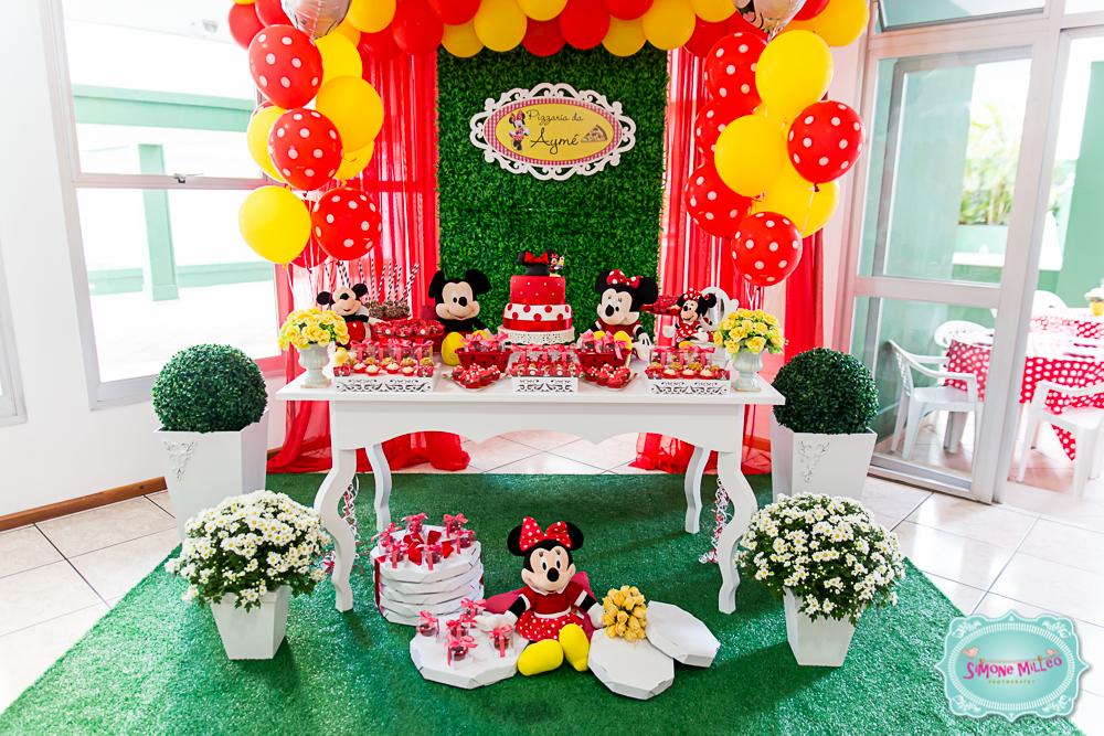 Festa da minnie de 7 anos