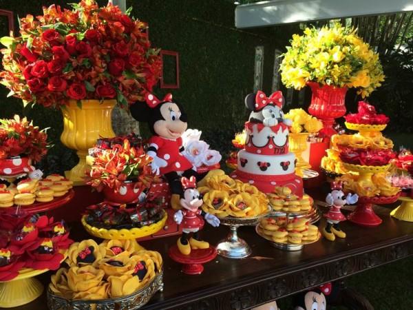 Festa da minnie vermelha e amarela