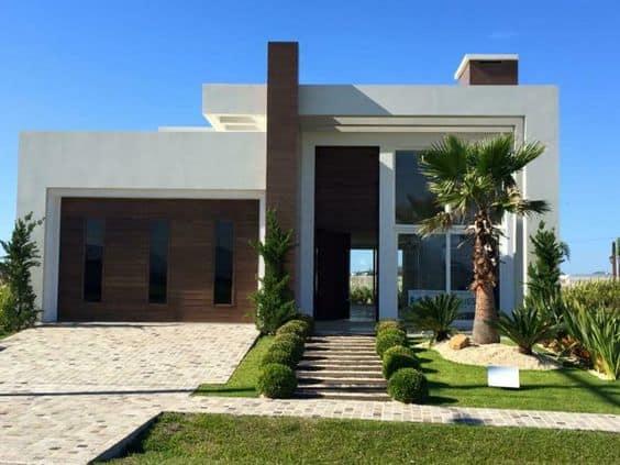 casa com formato moderno
