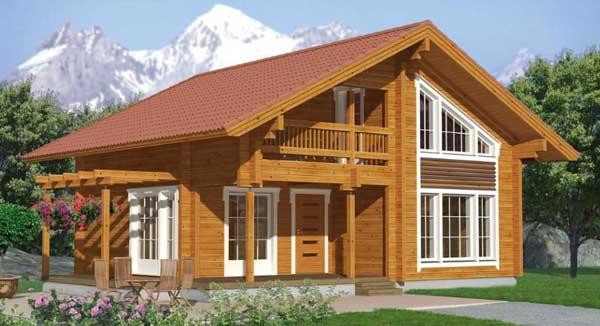 casas bonitas em madeira na cor original