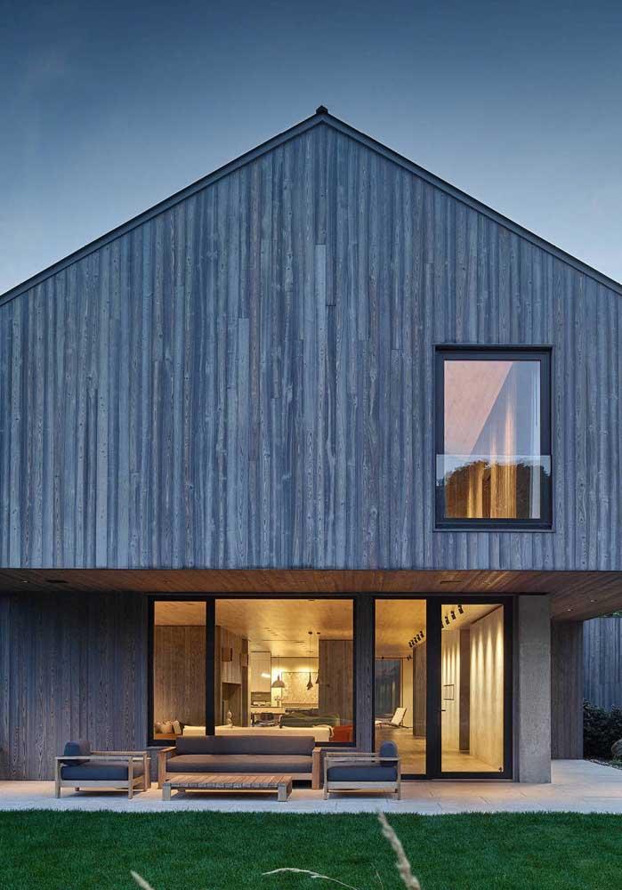 casas de madeira usando elementosd modernos