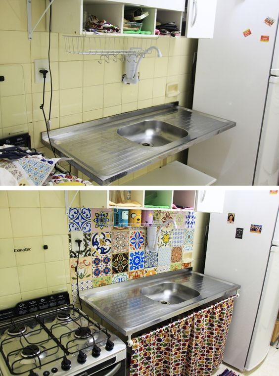 Cozinha Simples 70 Modelos Para Decorar a Sua Cozinha -> Decoração Cozinha Pequena Barata