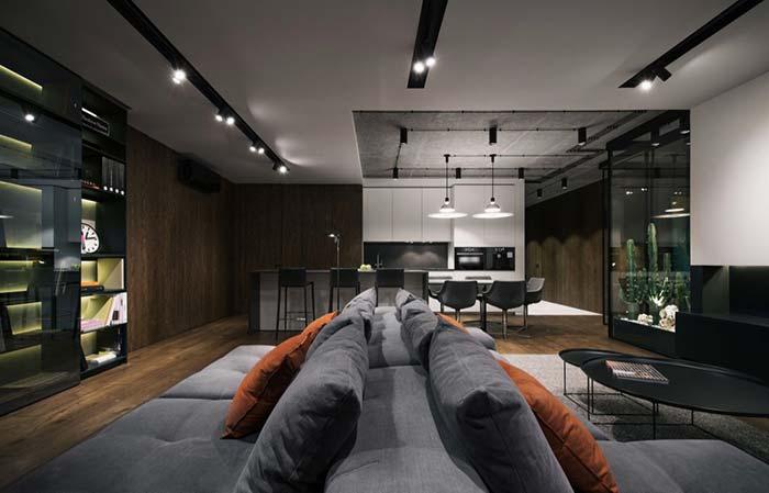 interior usando elementos para construir um tomd e modernidade