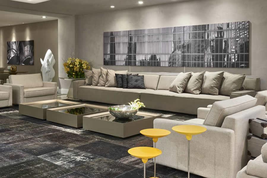 Salas decoradas veja 100 modelos para se inspirar hoje for Gradas decoradas