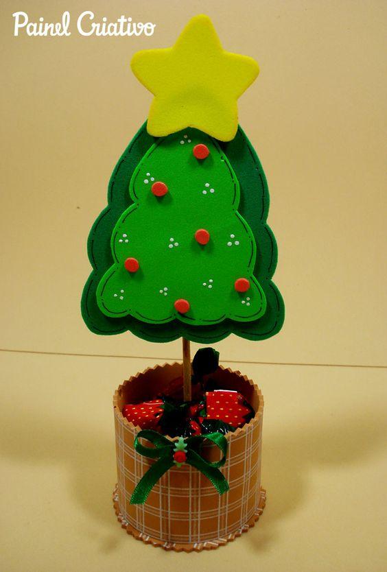 Enfeites De Natal Em EVA Veja 50 Modelos, Moldes e Passo a Passo -> Decoração Em Eva Natal