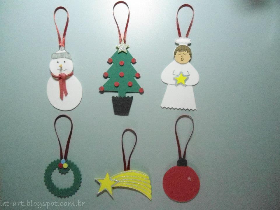 Enfeites De Natal Em EVA Veja 50 Modelos, Moldes e Passo a Passo # Decoração Em Eva Natal