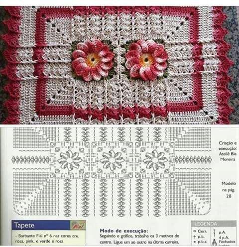 Jogo De Cozinha De Crochê 70 Modelos Com Gráficos E Passo