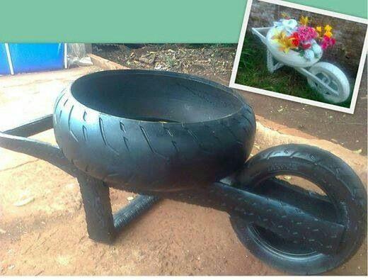 artesanato com pneus 2