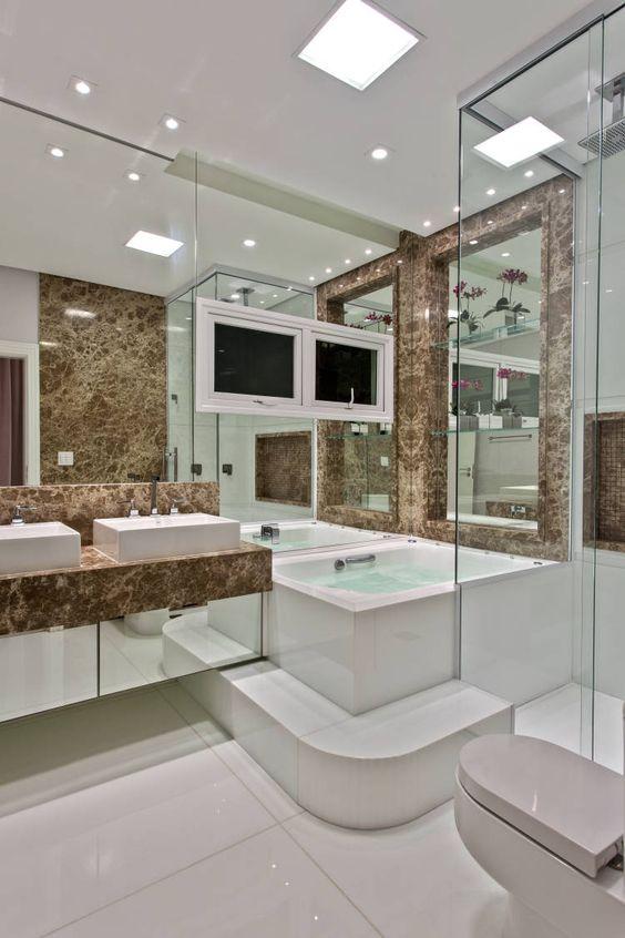 Banheiro Com Banheira Veja Mais De 100 Modelos Lindos