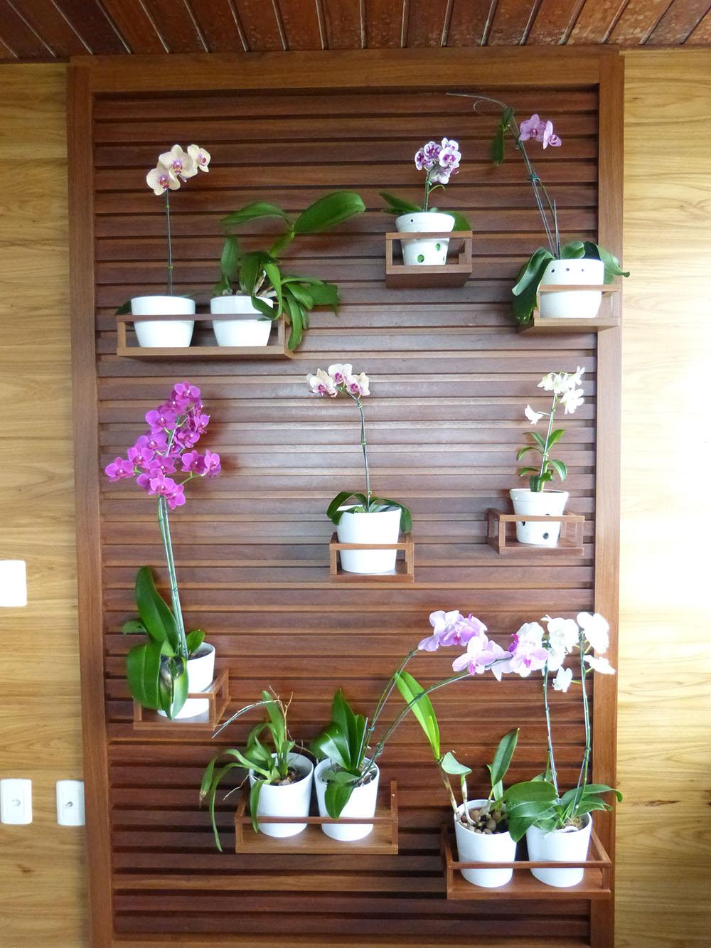 Orquidário de madeira apartamento