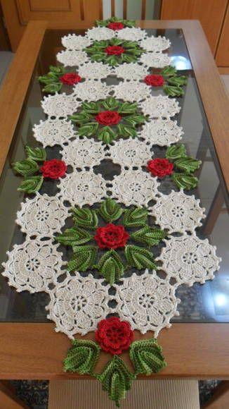caminho de mesa de crochê 2