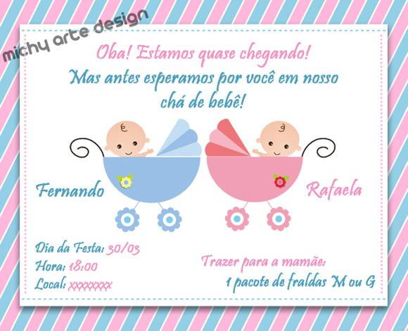 Convite De Chá De Bebê Mais De 60 Modelos Para Você Se Inspirar