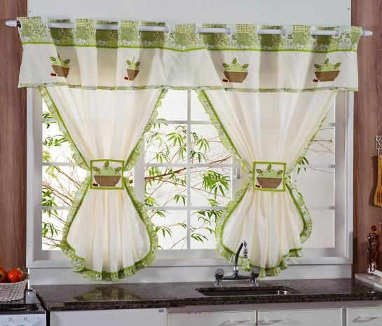 cortinas para cozinha com varão