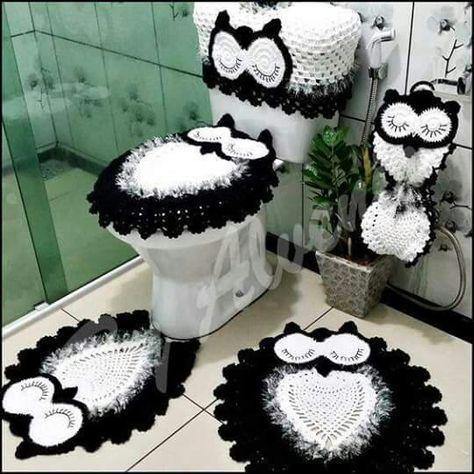 jogo de banheiro de crochê 2