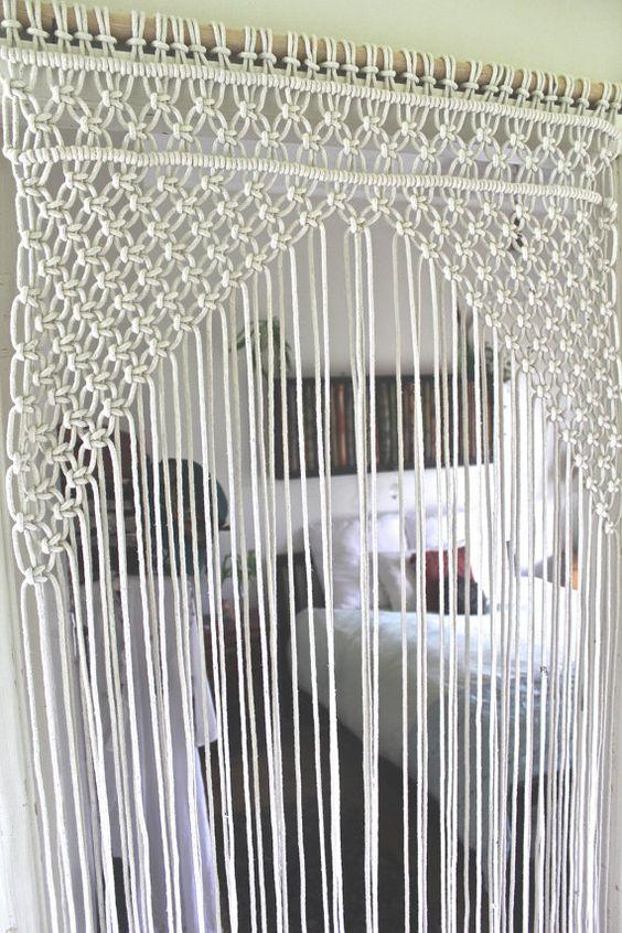 cortina de crochê 2