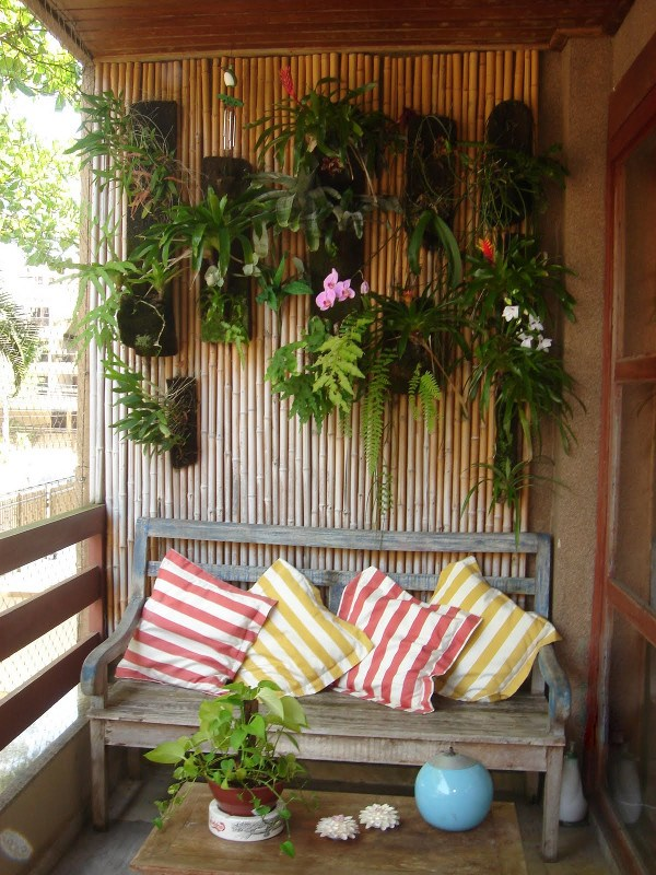 Decoração de varanda rustica
