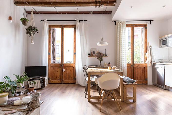 Decoração rústica apartamento