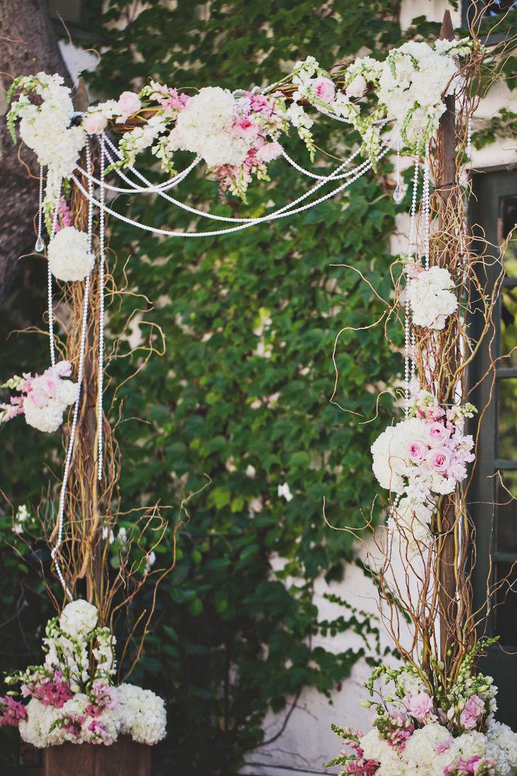 Decoração rustica com flores