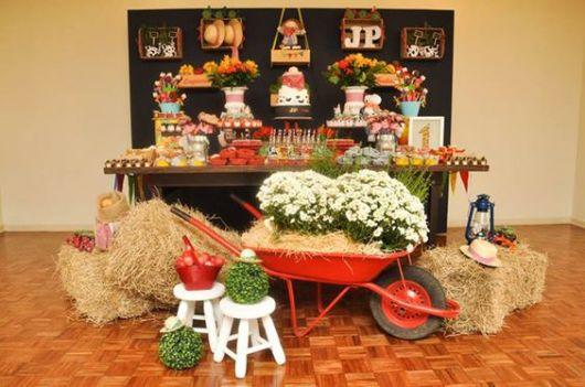 Decoração rustica festa junina
