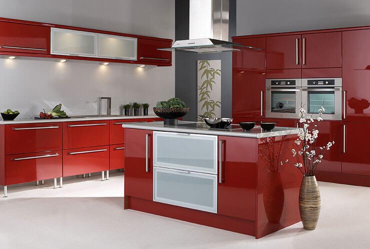 Enfeites de cozinha vermelho