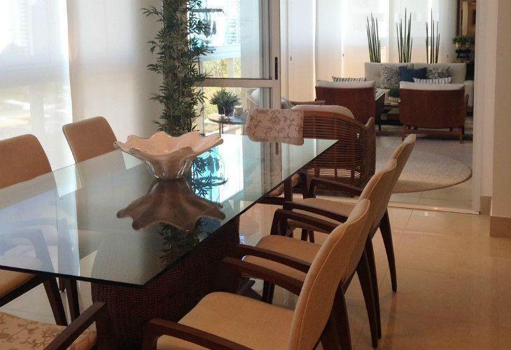 Enfeites para mesa de cozinha de vidro