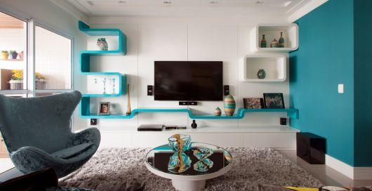 Enfeites para sala azul turquesa