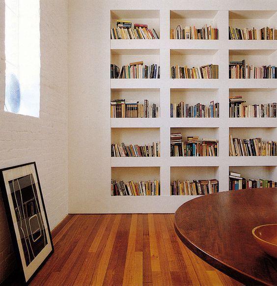 Estante de livros de parede para quarto