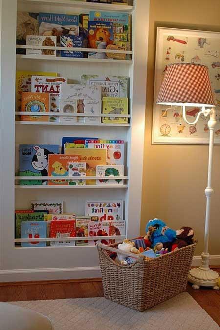 Estante grande para livros de parede infantil