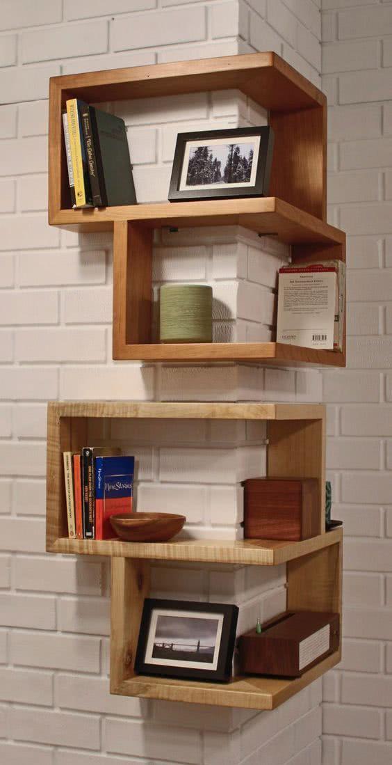 Estante moderna para livros de parede