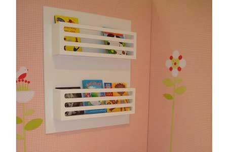 Estante para livros de parede infantil