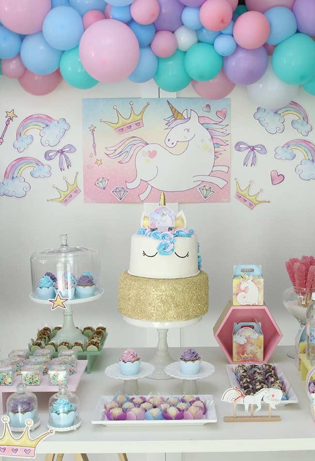 Festa unicórnio 30 ideias de decoraç u00e3o para inspirar voc u00ea # Decoração De Festa Unicórnio Infantil
