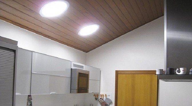Iluminação natural tubular parte interna