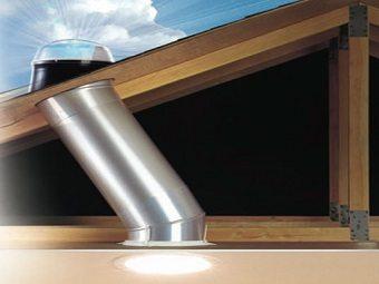 Iluminação natural tubular