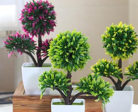 Plantas rasteiras artificiaiss
