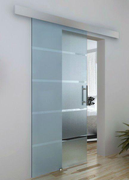 Porta de vidro de correr 1 folha