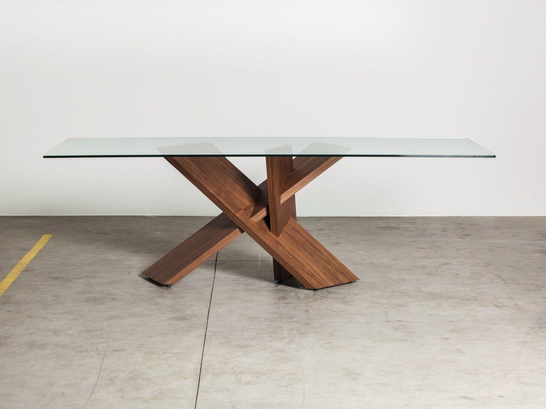 Vidro temperado para mesa com apoio de madeira