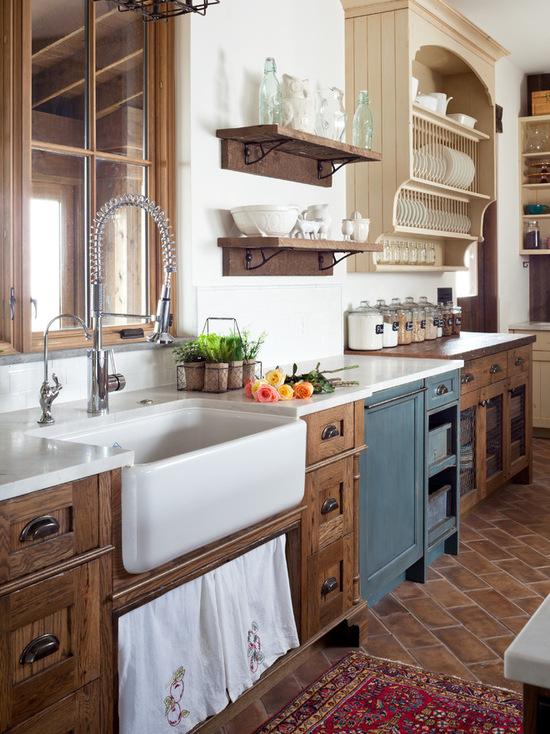 cozinha no estilo rustico