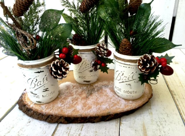 decoração de mesa rustica de natal
