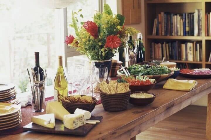 mesa de aniversaio decorada