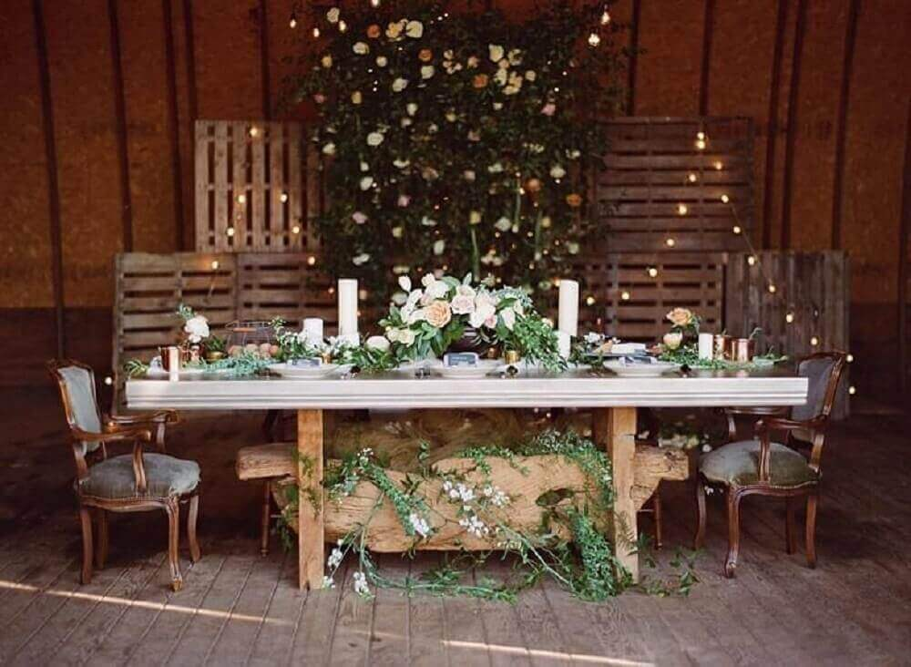 pallets na decoração