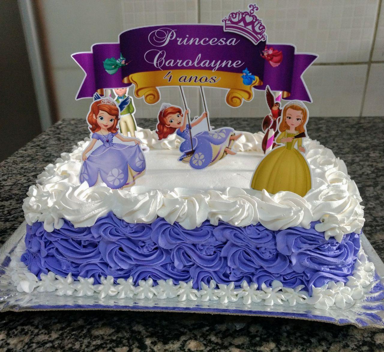 bolo da princesa sofia 2