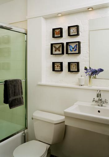 Enfeites para banheiro simples