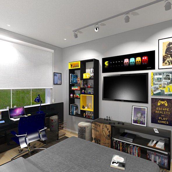 Enfeites para quarto gamer