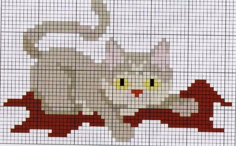 Ponto cruz gatinho
