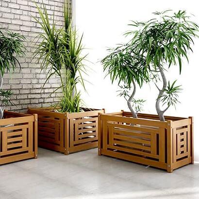 cachepot confecionado em madeira
