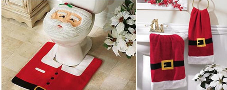 decoração de natal no banheiro